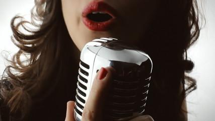Music woman singer silhouette show white