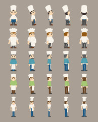Set of chef, costume characters