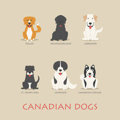 Set of canadian dogs
