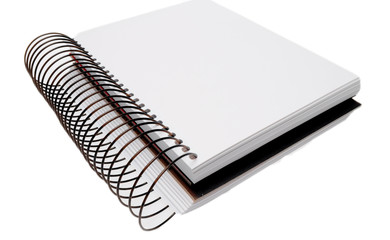 Blank notebook with clipping path isolate on white background