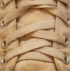 Shoelace closeup