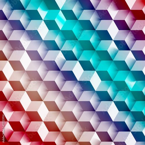 Vector Abstract geometric shape from gray cubes. - 77123154