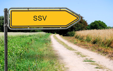 Strassenschild 21 - SSV