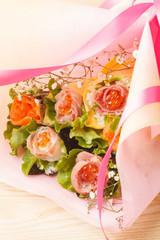 手巻き寿司の花束