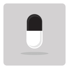 Vector of capsule icon on isolated background