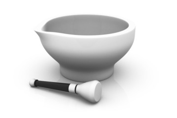 Mortar and pestle..