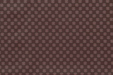 texture of terracotta fabric with abstract pattern