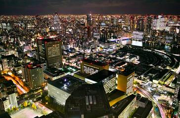 東京の下町の夜景