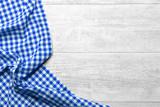 checkered fabric blue - 77129306