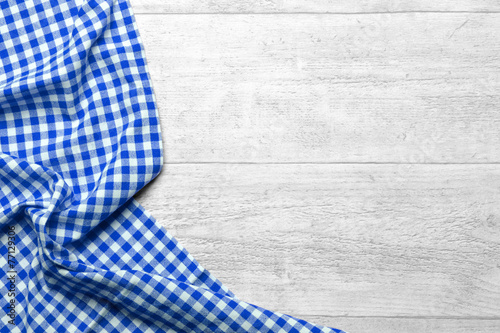 Fotobehang Stof checkered fabric blue