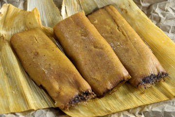 Tamale from food cart