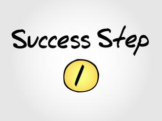 1 Success Step,sketch vector business concept