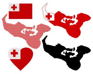 map of the Kingdom of Tonga
