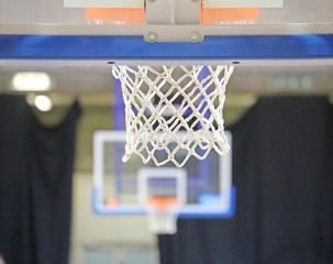 two baskets in basketball court