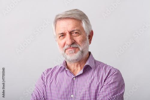 Leinwanddruck Bild Senior man
