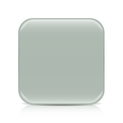 Gray blank button with reflection