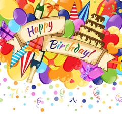 Vector Illustration of celebration Happy Birthday