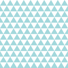 Retro Triangles Seamless Pattern Turquoise