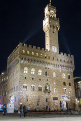 Palazzo Vecchio, Firenze. Night shot