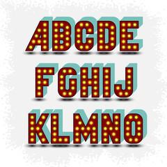 lightbulb alphabet font