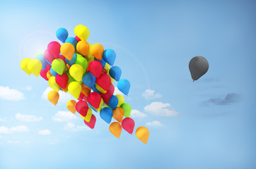 Concept of separations. Discrimination. One balloon is separated