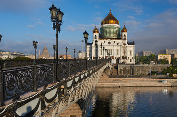 Cathedral of Christ the Saviour near Moskva river, Moscow. Russi