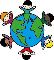 地球と子供たち