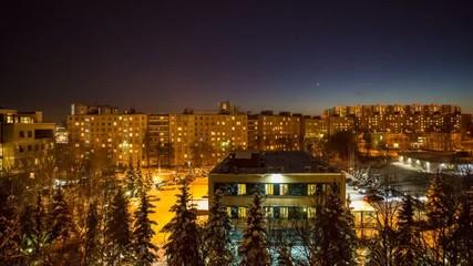 Twilight on the suburb of the big city