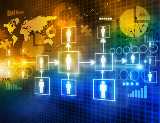 Digital image of  business networking .
