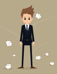 businessman poor working