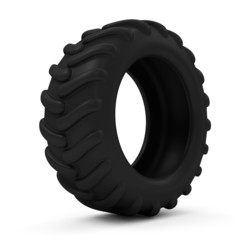 Tractor Tire isolated on white background