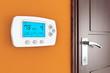 Leinwanddruck Bild - Modern Programming Thermostat