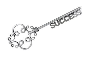 Vintage Key with Success Sign