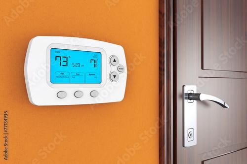 Leinwanddruck Bild Modern Programming Thermostat
