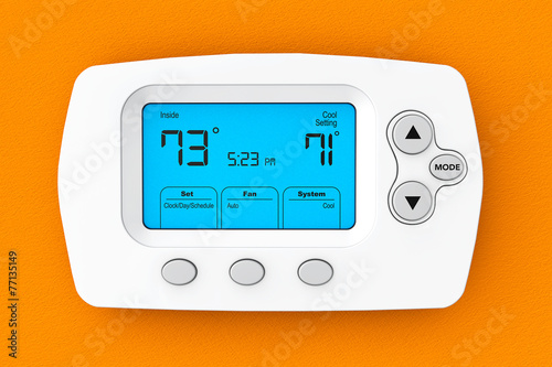 Modern Programming Thermostat - 77135149