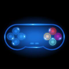 Neon Gamepad Icon