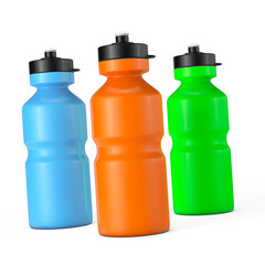 Multicolour Sport Plastic Water Bottles