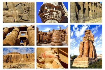 Collage Tempel in Oberägypten