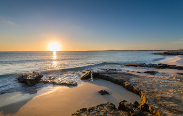 Sunrise at Formentera island