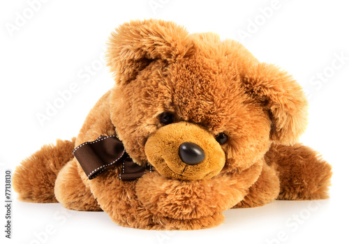 Leinwandbild Motiv Toy teddy bear