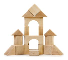 Toy wooden castle
