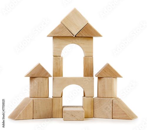 Toy wooden castle - 77138321