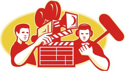 Film Director Movie Camera Clapper Soundman
