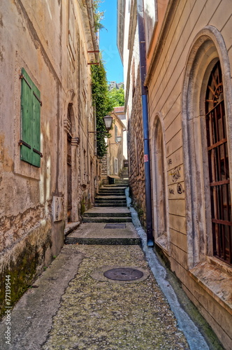 Narrow streets of Montenegro