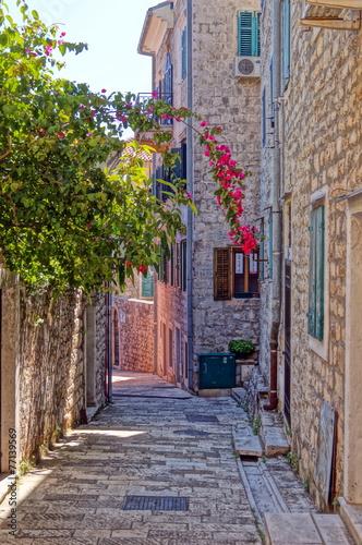 Narrow streets of Montenegro