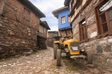 narrow street view of 700 years old Ottoman village Cumalikizik - 77139709
