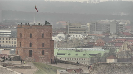 Vilnius. Vieц of the tower Gedemin