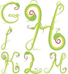 snake alphabet vector