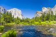 western rocket plateau of yosemite national park with merced riv - 77141526