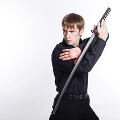 Man with Katana in hand